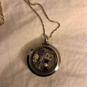 Origami Owl Necklace on long chain